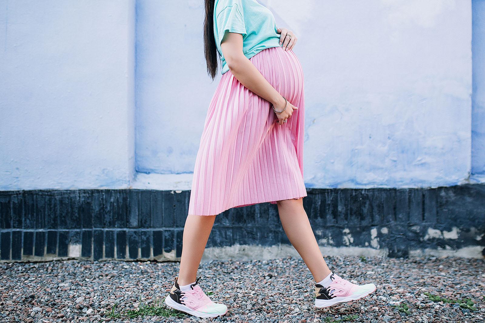 pregnant-woman-walking-profile
