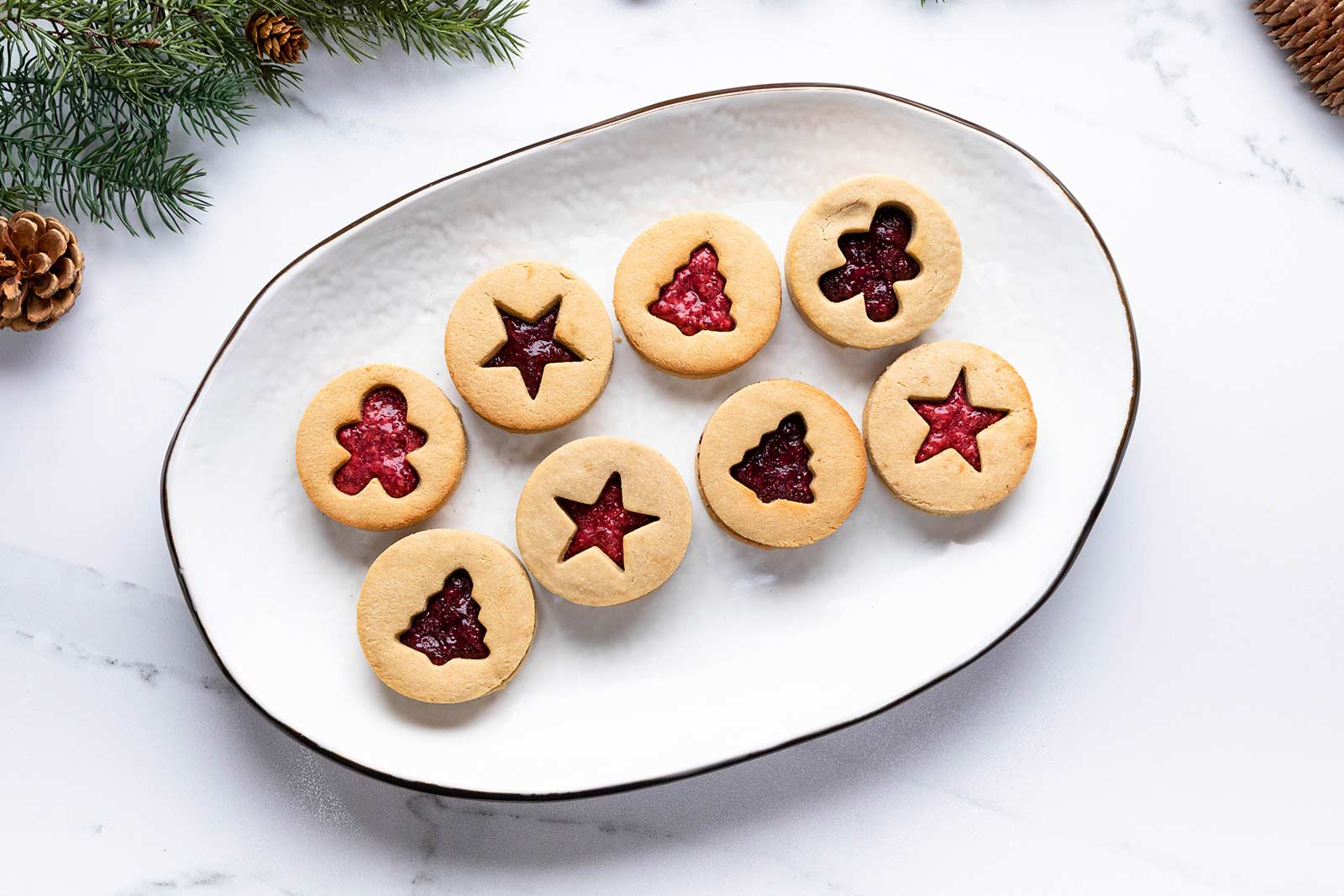 Linzer Chia Jam Cookies