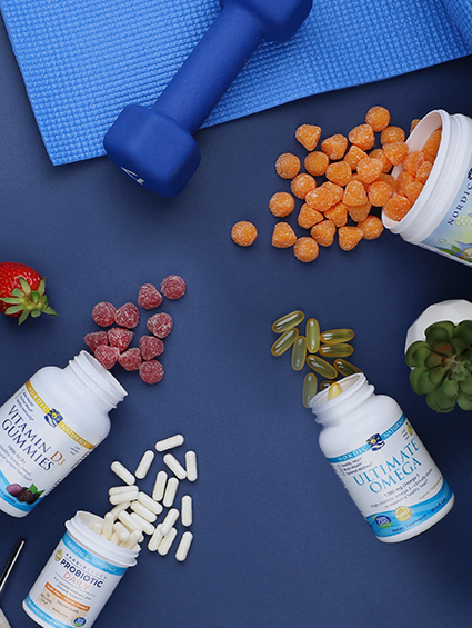 Nordic Naturals healthy products overlay