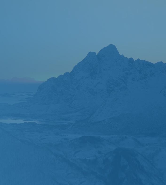 Norwegian mountain range